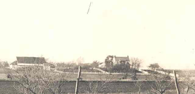An 1880's view of the John S. Forney farm from near the Union position on Oak Ridge.  Iverson's brigade passed to the left, or south, of the barn in its advance.  NPS