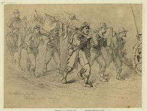 On the March by Edwin Forbes.  LC