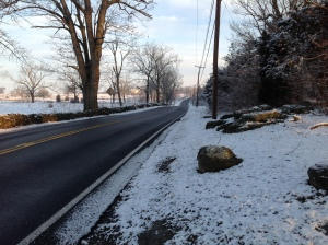 Taneytown Road on this snowy morning