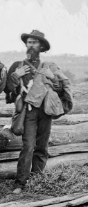 A Confederate POW after the battle.  LOC