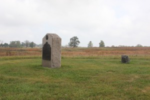 the Battery I 5th U.S. Artillery monument in the Neinstedt field.